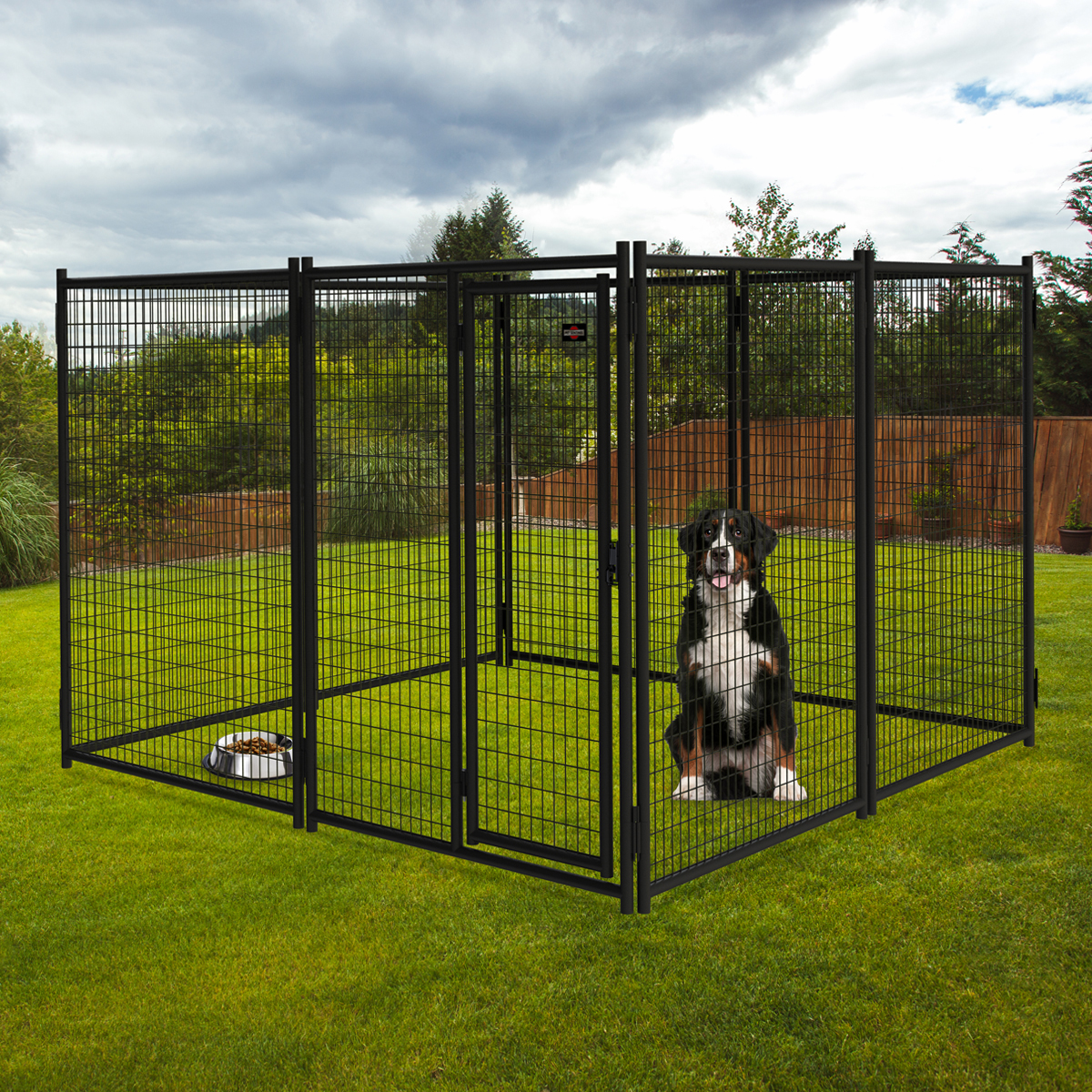 7ft H X 5ft W Pro Duty Steel Premium Kennel Gate Pet