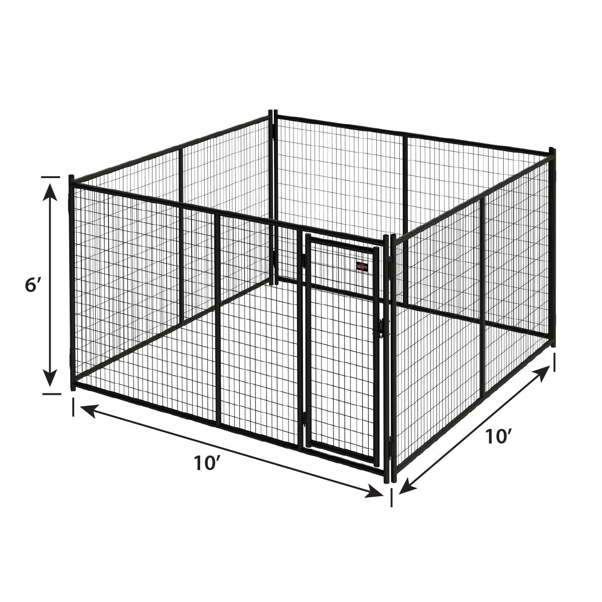 6ft H X 10ft W Heavy Duty Steel Kennel Panel Pet Kennels