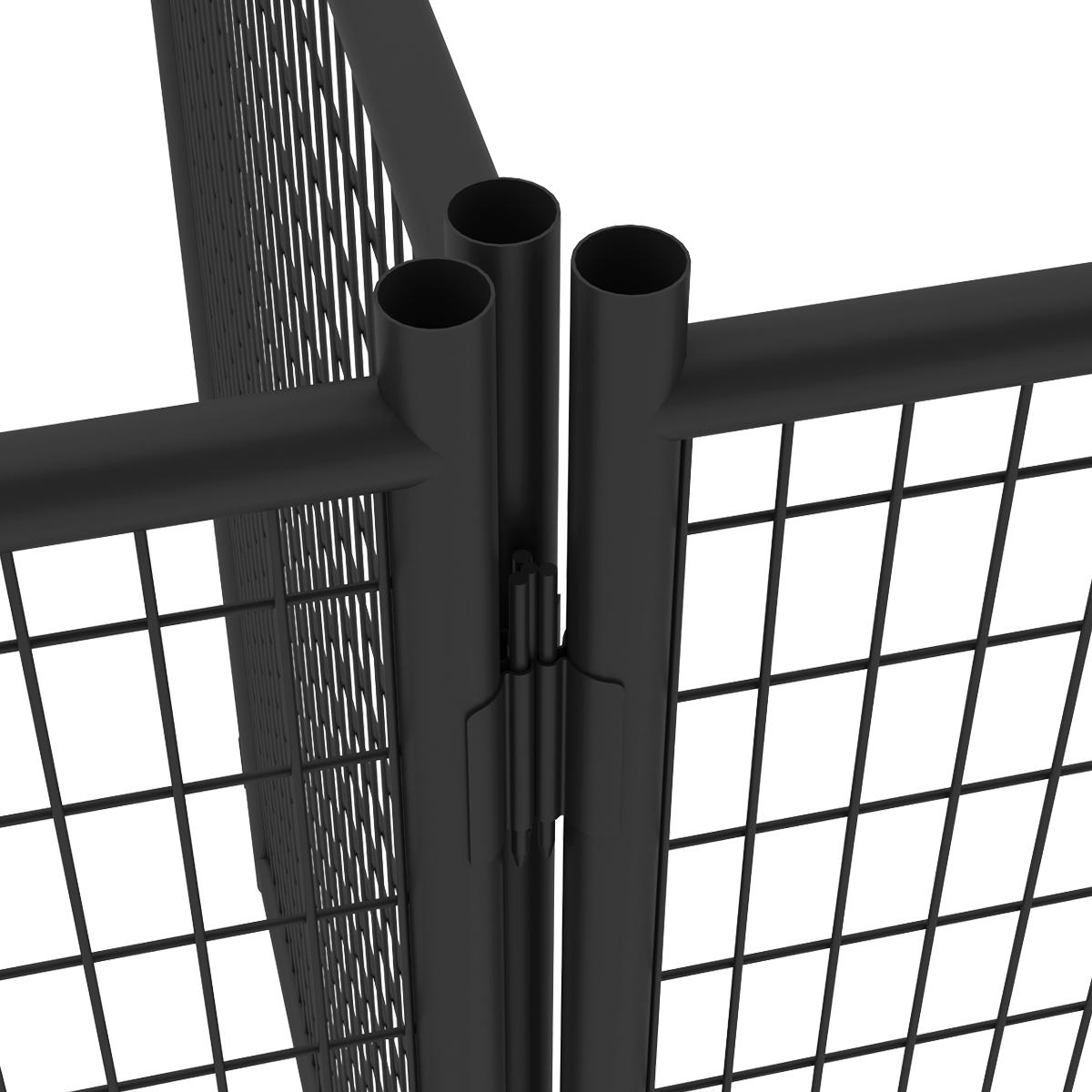 7ft H X 5ft W Pro Duty Steel Premium Kennel Panel Pet